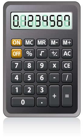 vector black calculator Vector