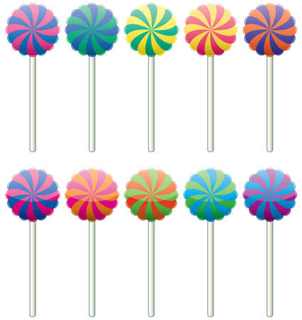 vector set of colorful lollipops
