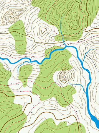 terrain: vector abstract topographical map with no names