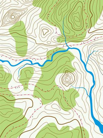 Vektor abstrakte topografische Karte mit keine Namen