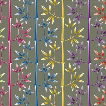 vector illustration of colorful bamboo background  Vector
