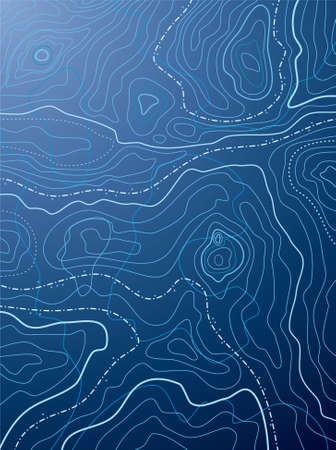 topographic map: vector abstract blue map with no names