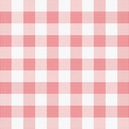 gingham: vector illustration of red picnic cloth