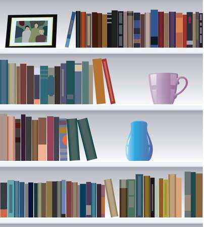 bookcase: modern bookshelf  Illustration