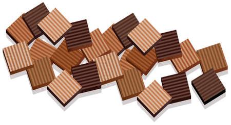 casse-cro�te: fond de tablettes de chocolat