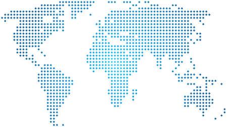 north america map: Mappa del mondo astratto