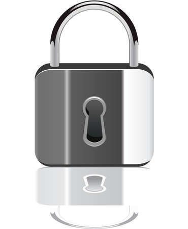 padlock with reflection Vector