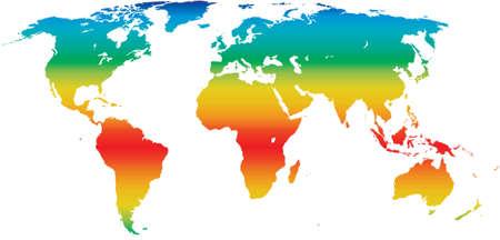 klimaat wereldkaart Vector Illustratie