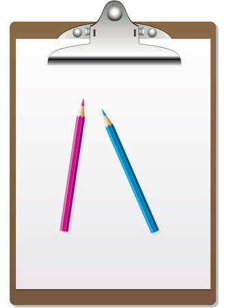 vector clipboard and pencils Vector