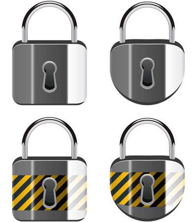 to lock: insieme vettoriale di lucchetti Vettoriali