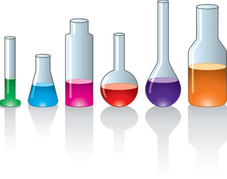 test glass: set of laboratory glassware