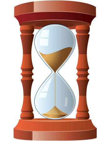 sand timer: illustration of vintage hourglass
