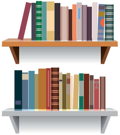 vector modern bookshelves Vector