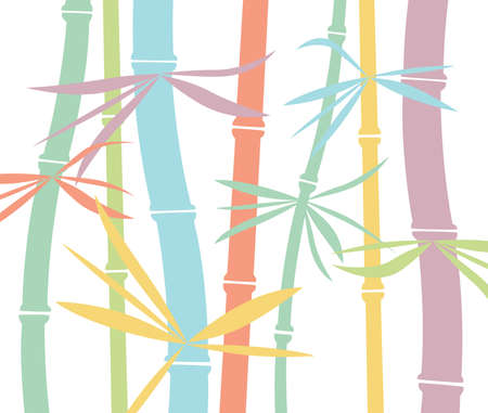 colorful bamboo background Vector