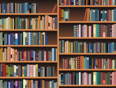 bookcase: wooden bookshelf