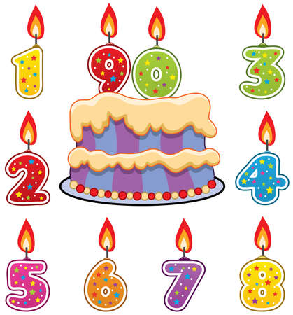 candeline compleanno: torta e candele compleanno