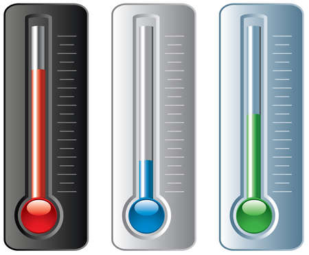 fahrenheit: set of thermometers  Illustration