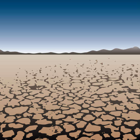 dry land in desert Illustration