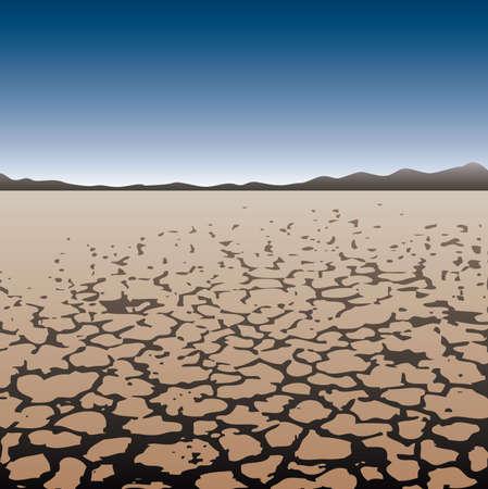 grounds: dry land in desert Illustration