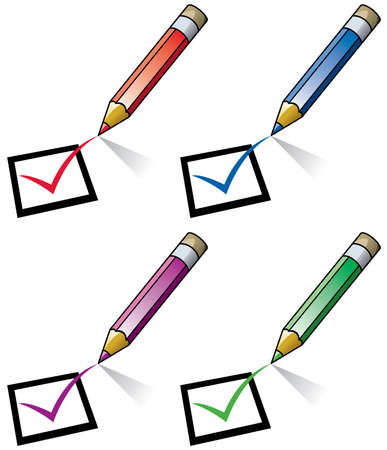 pencils and checklist  Vector