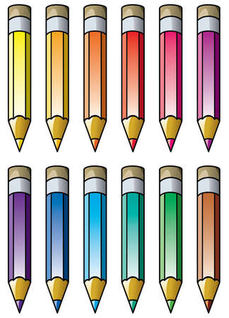 colourful pencils clipart Stock Vector - 10190601
