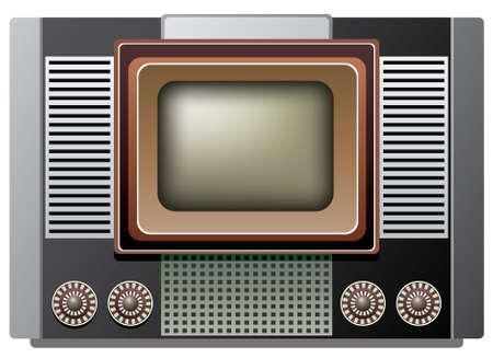 illustration of big retro tv set  Vector