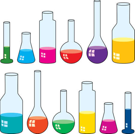 clipart of laboratory glassware Stock Vector - 10222829