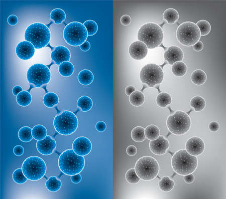 microbe: Abstract molecule or microbe backgrounds Illustration