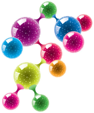 Abstract molecule or microbe background