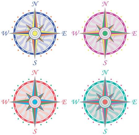 north star: set of vintage compasses