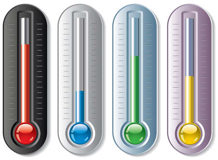 set of thermometers Stock Vector - 10343594