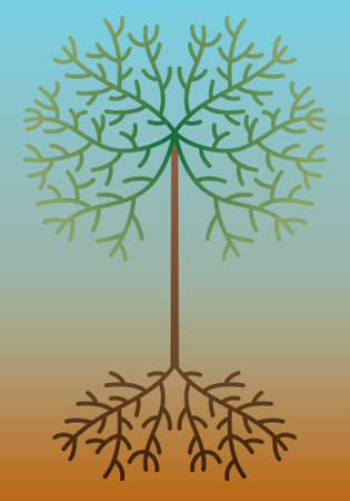 design of abstract tree Vector