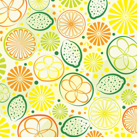 Abstract citrus background  Vector