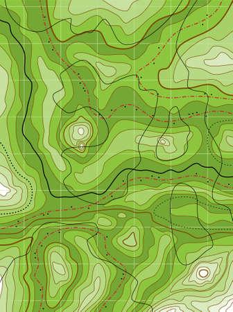 географический: Аннотация топографическая карта с зеленым никаких имен