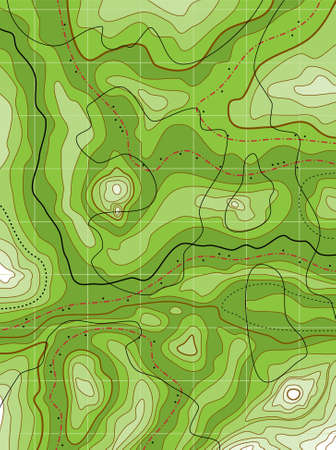zeměpisný: Abstraktní topografická mapa zelená bez jména