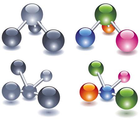 Abstract molecule icon design Stock Vector - 10501642