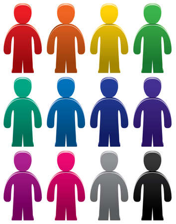 set of colorful male symbols Vector