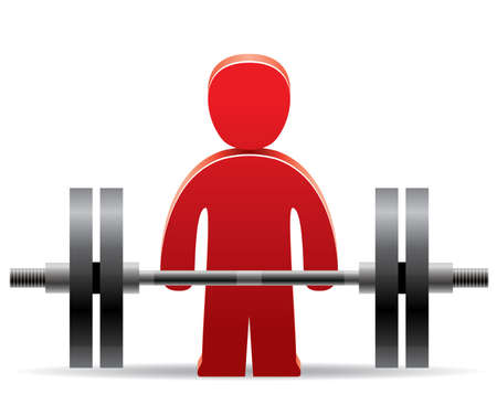 weightlifting: vector symbol of bodybuilder and weight