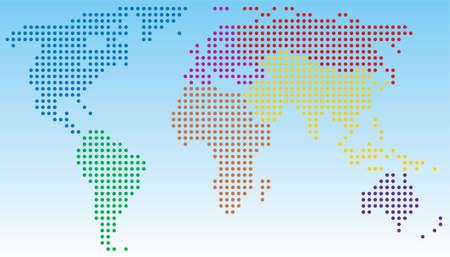 digital world map: vector abstract world map