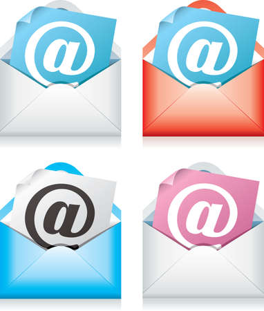 red envelope: vector design of mail icons Illustration