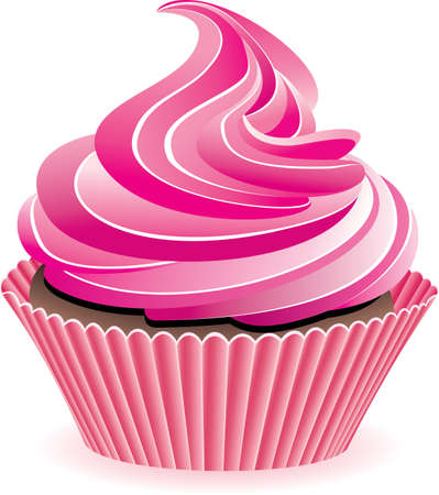 vector design of pink cupcake