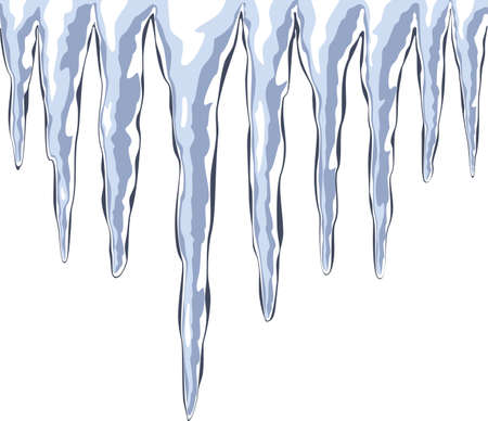 vector illustration of icicles Illustration