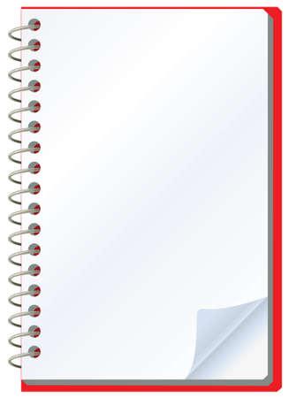ilustración vectorial del Bloc de notas abierto Ilustración de vector