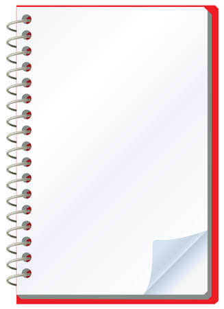 memo pad: vector illustration of opened notepad