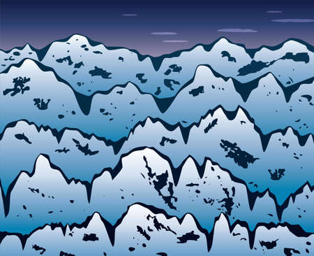 vector background of winter mountains Stock Vector - 10898868