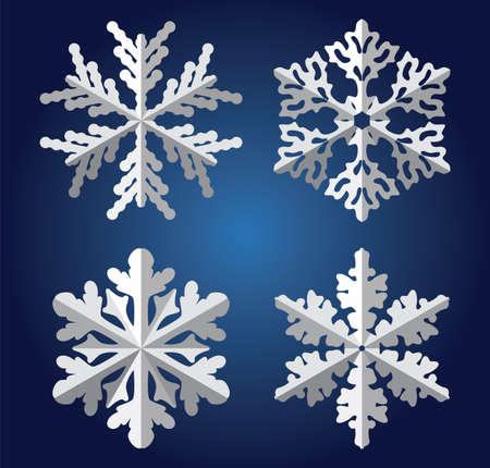 snow flake: vector origami snowflakes Illustration