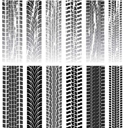 huellas de neumaticos: vector conjunto de huellas de neumáticos detallada