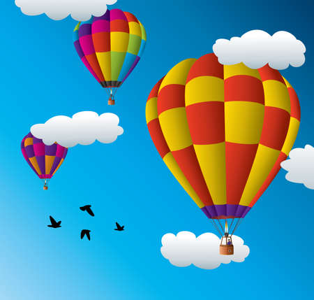 man in air: Hot air balloons in the sky