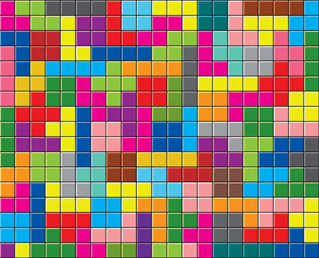 Background of colorful puzzle pieces Vector