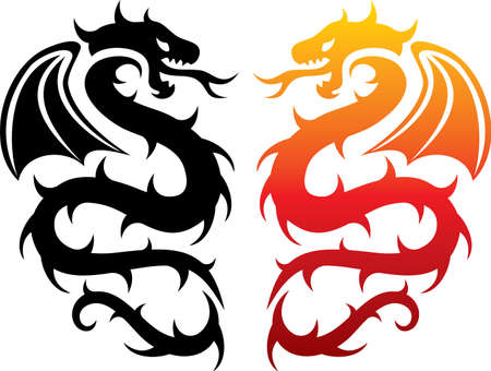 yellow tail: Design of dragons